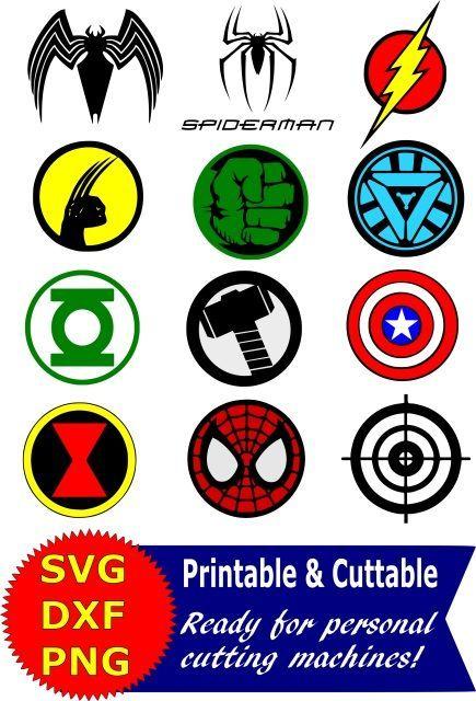 435x640 Superhero Logo Svg And Clipart Bundle For Silhouette Cameo