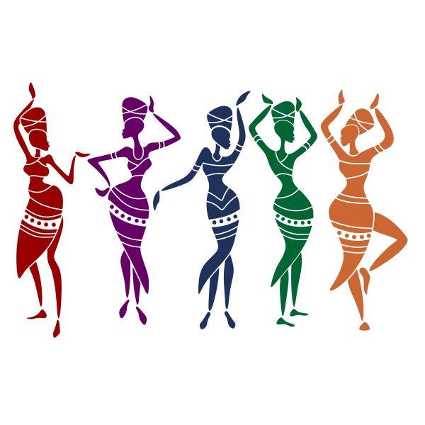 600x600 African Women Cuttable Design Cut File. Vector, Clipart, Digital
