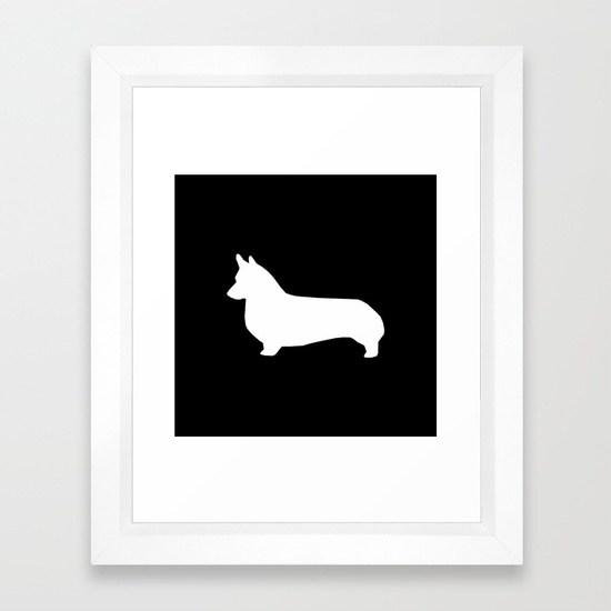 550x550 Corgi Black And White Welsh Corgi Silhouette Dog Breed Custom Dog