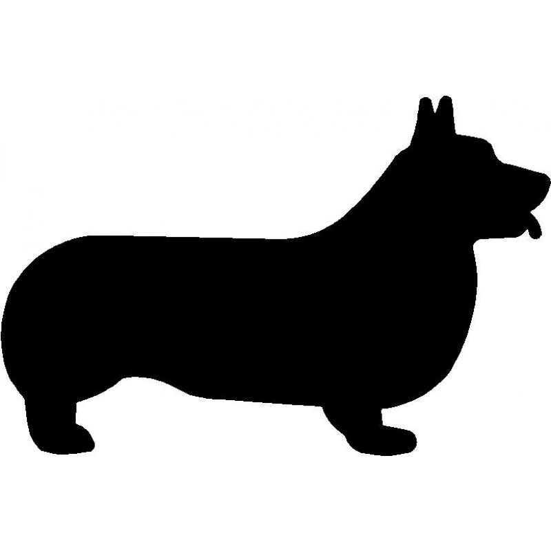 800x800 Dog Breed Silhouette Wall Hanging Magnetic Memo Corgi
