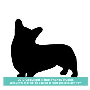 300x300 Welsh Corgi (Pembroke) Dog Silhouette Gifts, Stationery, Address