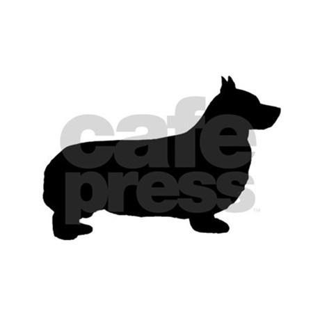 460x460 Pembroke Welsh Corgi Silhouette Queen Duvet By Puppylovenz