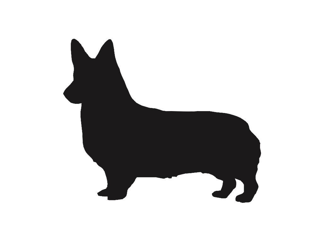 1024x768 Corgi Dog V2 Silhouette Custom Die Cut Vinyl Decal Sticker