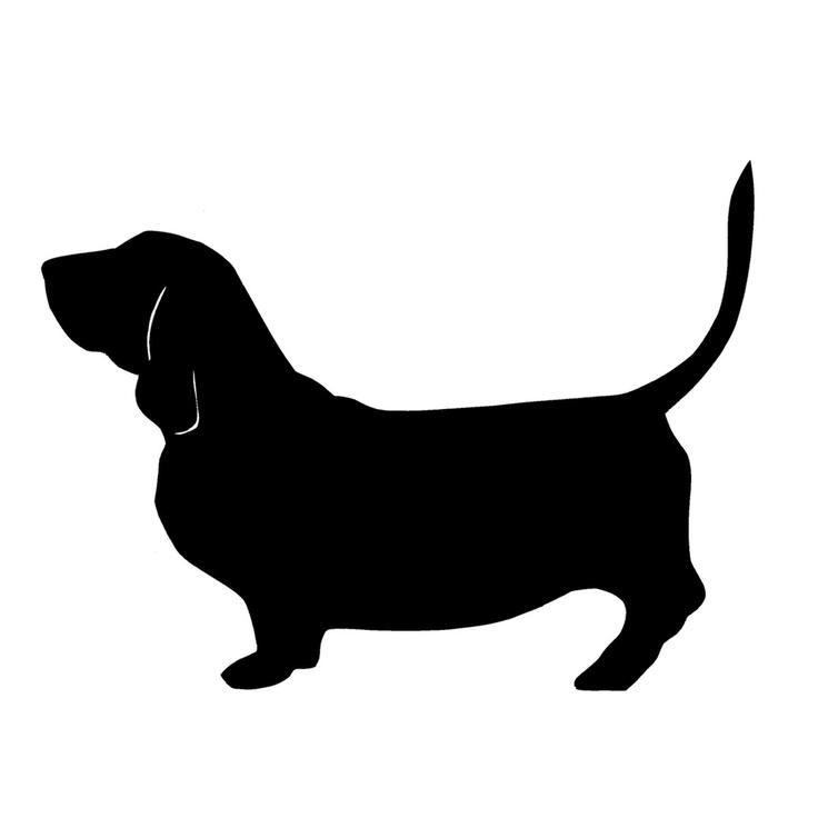 736x736 Basset Hound Clipart Dog Silhouette