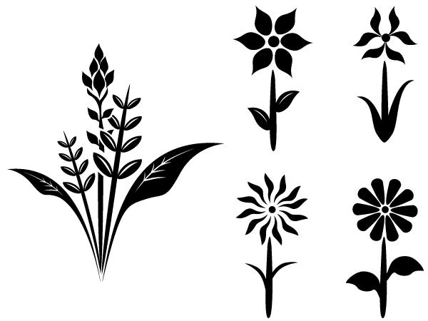 600x450 Plant Silhouette Clip Art