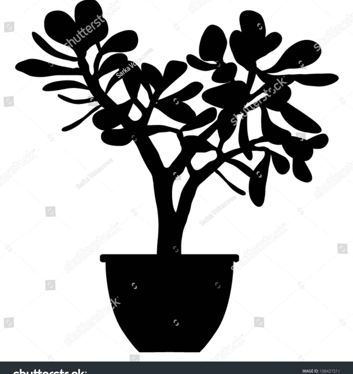 1416x1500 Potted Plant Silhouette Vector Silhouette Of Succulent Plant