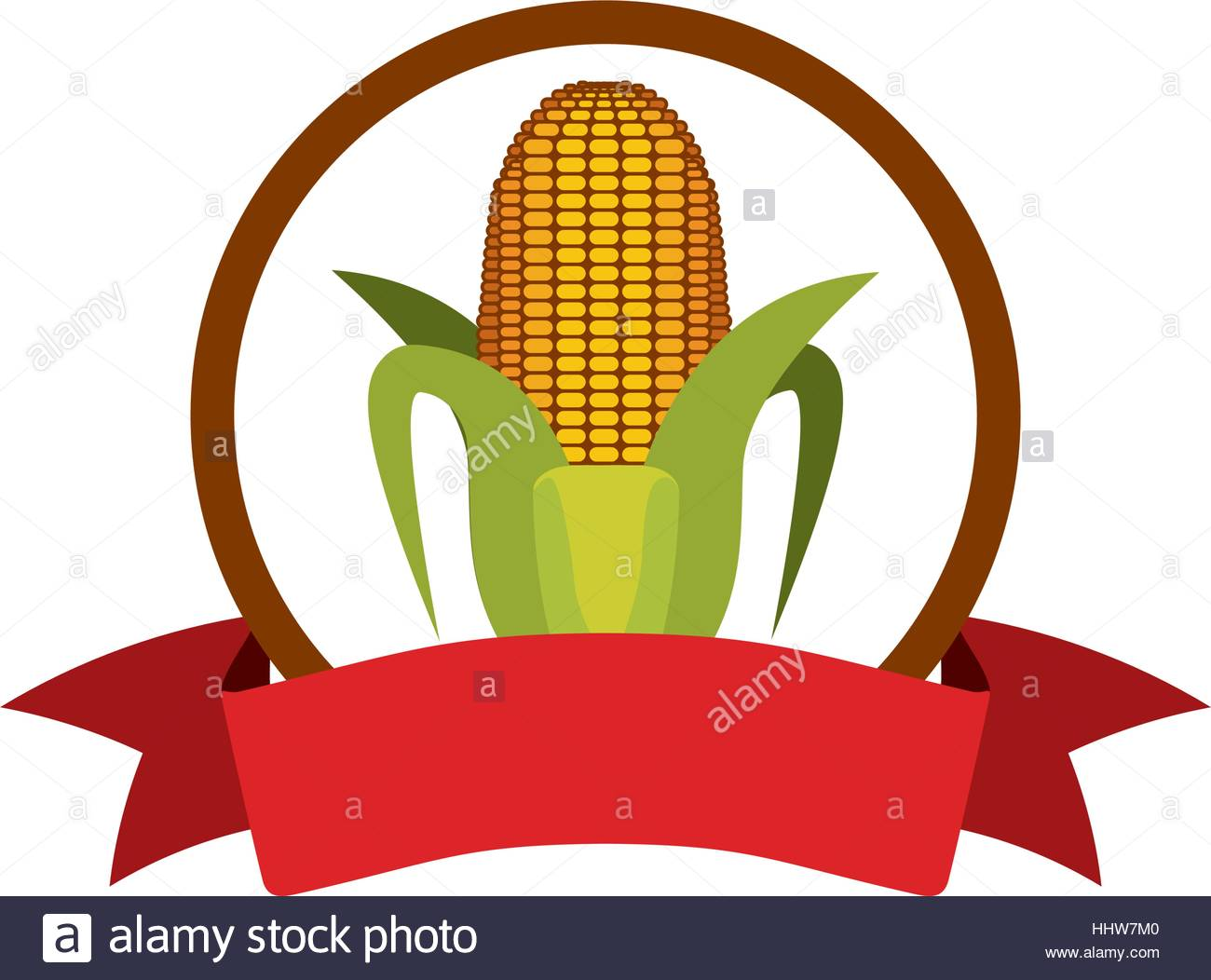 1300x1052 Label Silhouette Colorful With Corn Vector Illustration Stock