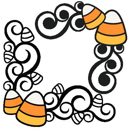 432x432 Candy Corn Flourishes Svg Scrapbook Cut File Cute Clipart Files