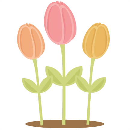 432x432 Flowers Tulips Svg Scrapbook Cut File Cute Clipart Files