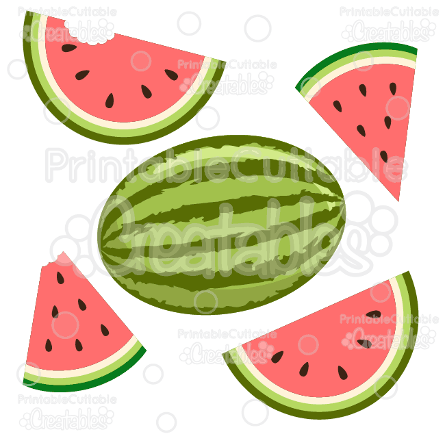 650x650 Summer Watermelon Svg Cutting File Amp Clipart Cutting Files