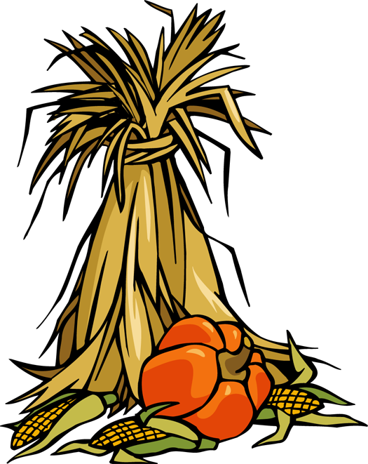 525x661 Colorful Clip Art For The Autumn Season Cornstalks And Pumpkins