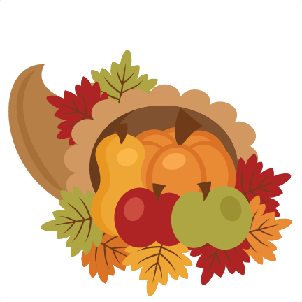 432x432 Thanksgiving Cornucopia Svg Scrapbook Cut File Cute Clipart Files