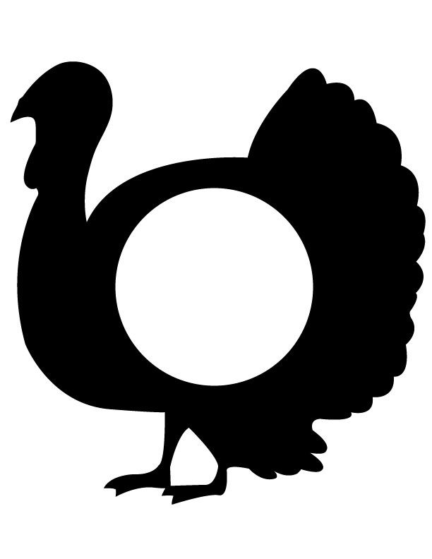 612x792 Turkey Silhouette Turkey Silhouette.jpg Thanksgiving