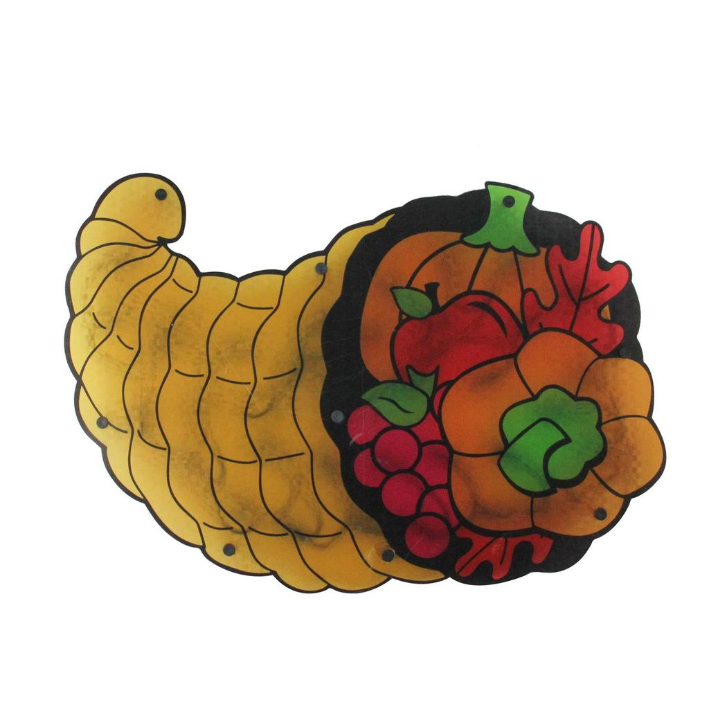 1024x1024 20 Lighted Cornucopia Thanksgiving Window Silhouette Decoration