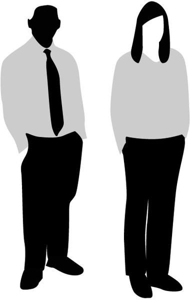 380x600 Corporate Man And Woman Free Vector In Adobe Illustrator Ai ( Ai