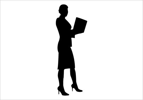 501x351 Business Women Vector Illustration Silhouette Corporate Working