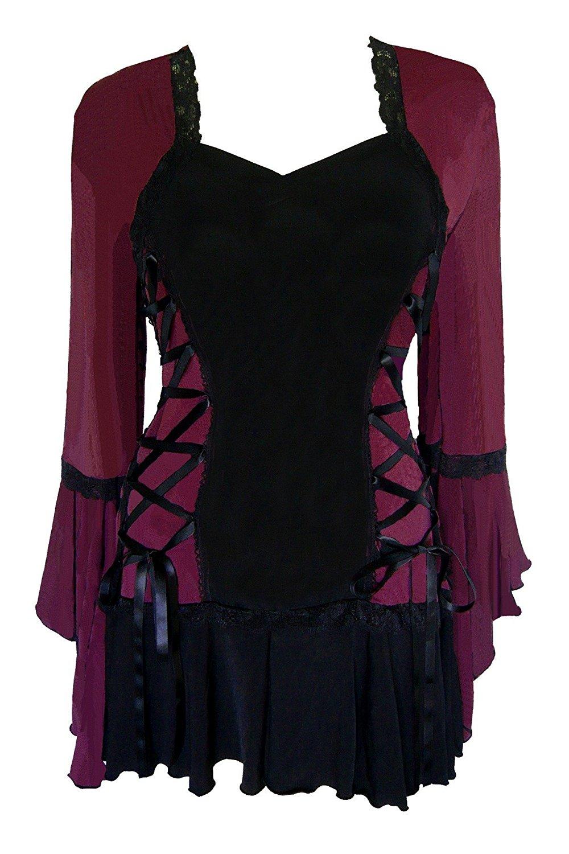 1000x1500 Dare To Wear Victorian Gothic Boho Women's Plus Size Bolero Corset