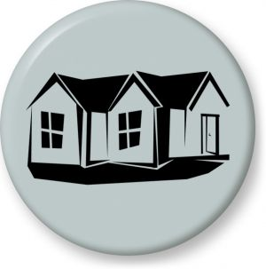 300x303 Vector Clip Art Of Silhouette Of A Familiy House