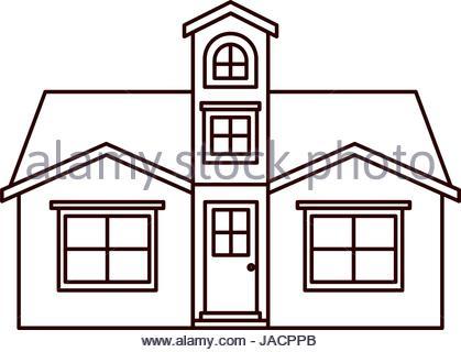 419x320 Silhouette House Home Family Residential Stock Vector Art