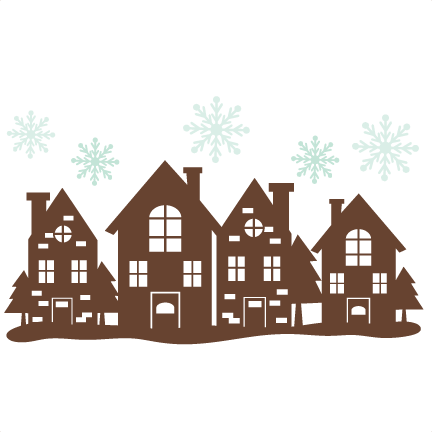 432x432 Christmas House Border Svg Cutting Files Free Svg Cuts Svg