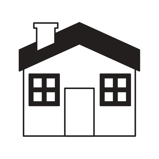 550x550 House Silhouette Isolated Icon