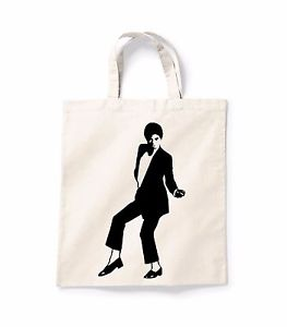 263x300 Michael Jackson Silhouette Canvas Tote Shopping Bag Cotton Printed