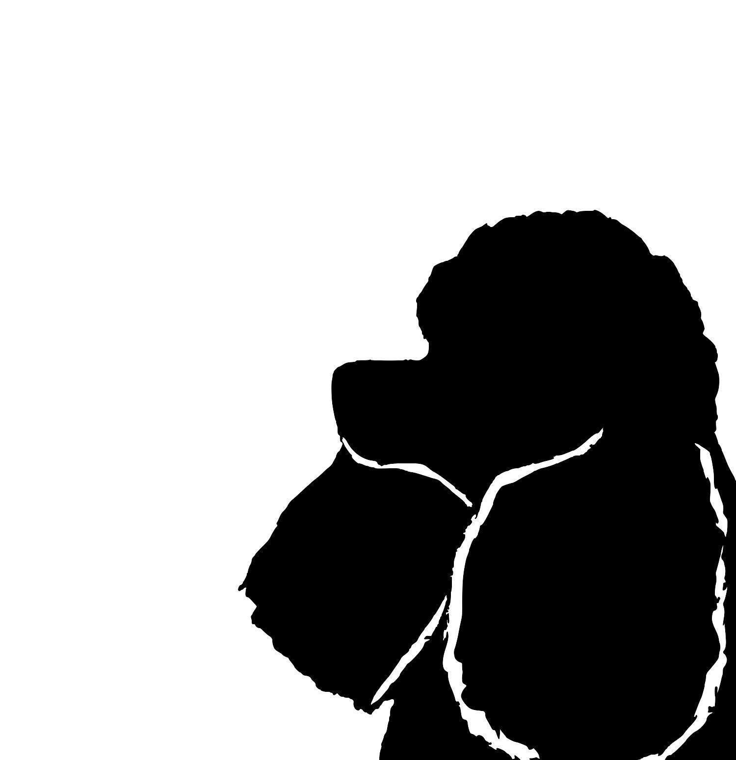1500x1550 Miniature Poodle Silhouette Extra Large Reusable Cotton Canvas