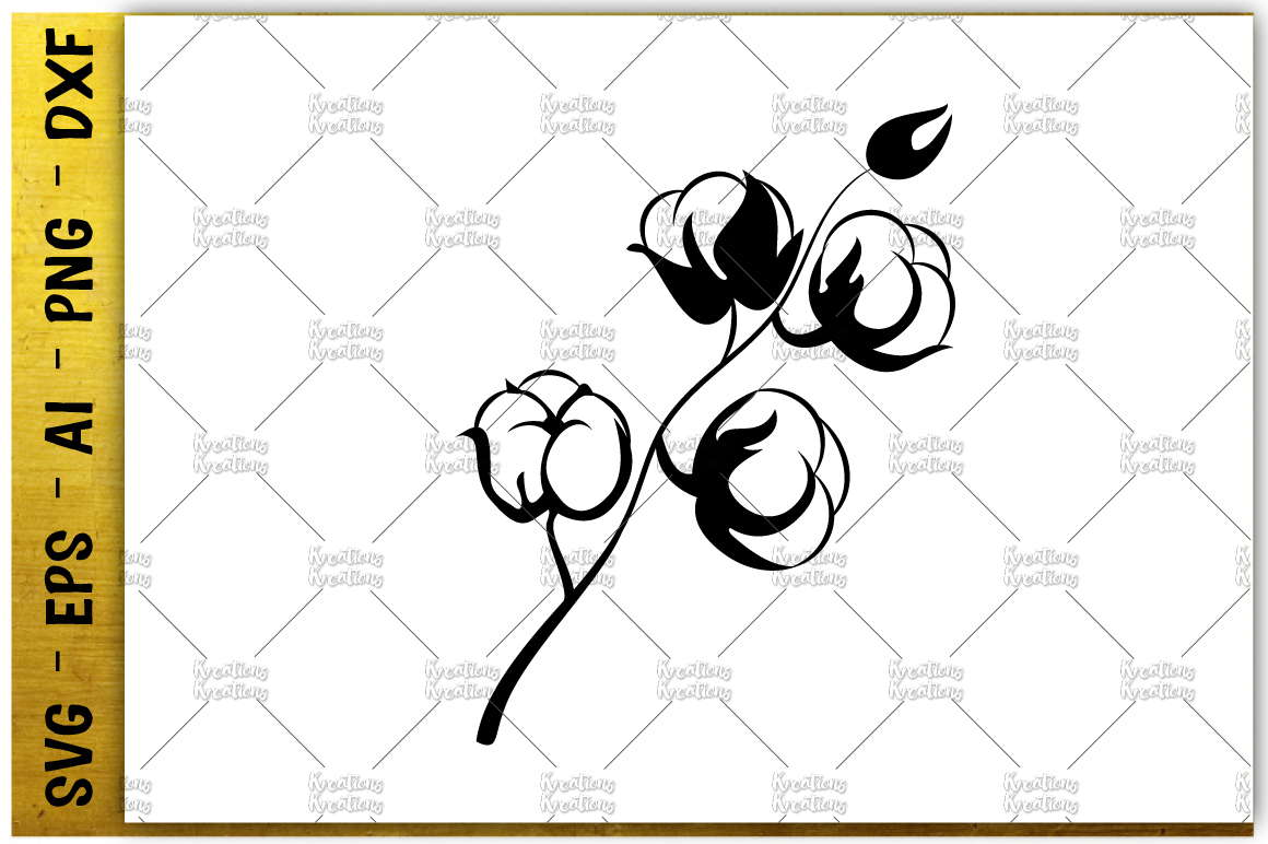 1160x772 Cotton Picking Plant Svg Printable Iron Cut File Vector Eps Png Ai