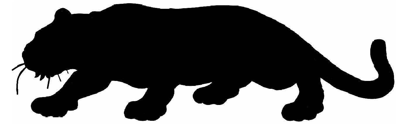 1386x440 Mountain Lion Silhouette Patterns