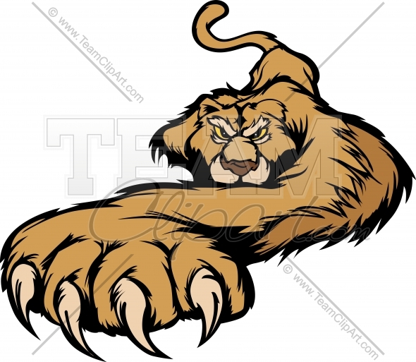 590x513 Claws Clipart Cougar Mascot