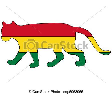 450x380 Cougar Bolivia Stock Illustrations