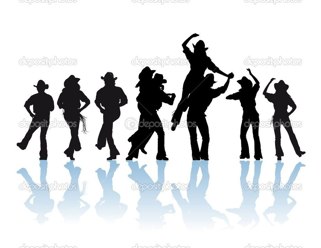 1023x792 Country dance silhouette Cowboy Man And Girl Dancer Silhouette