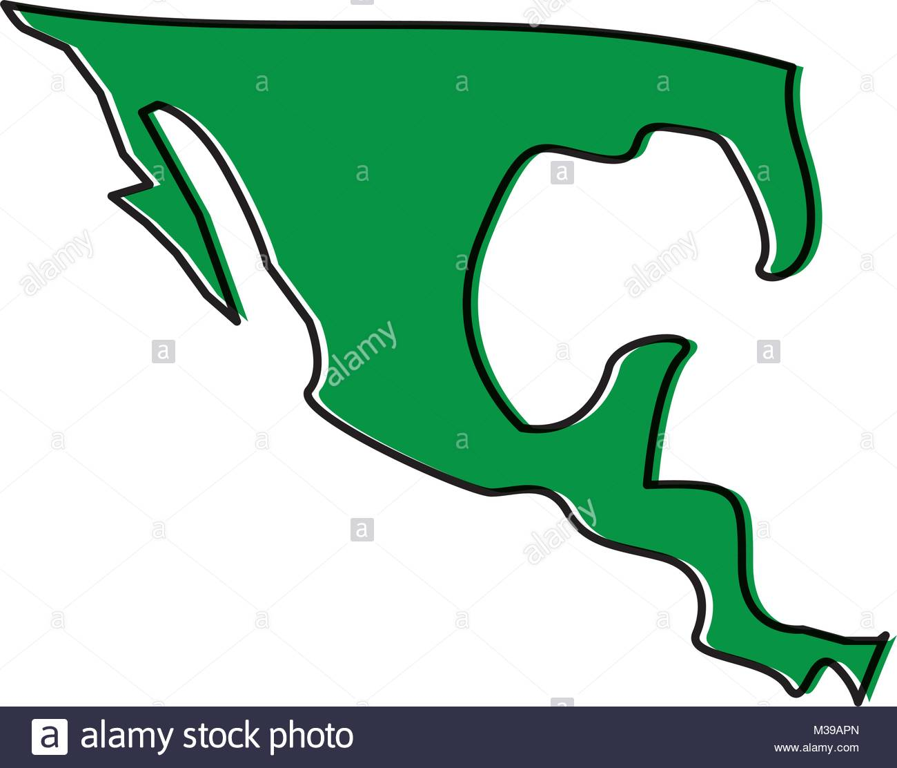 1300x1112 Silhouette Map Of Mexico Country Stock Vector Art Amp Illustration