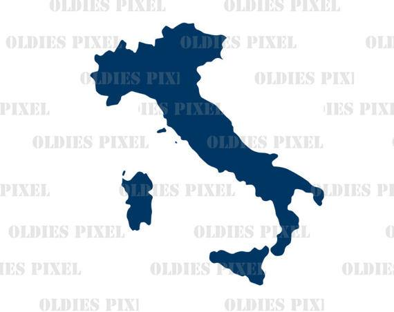 570x452 Italy Country Silhouette Outline Map Line Art Illustration