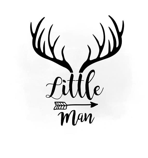 570x609 Little Man Svg Clipart, Antler Hornes Svg, Boho Antlers Clipart