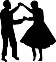 182x200 Country Dancing Silhouette Clipart