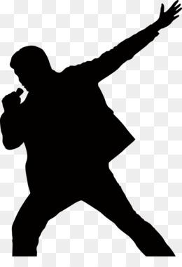 260x380 Singer Silhouette Singing Male Clip Art