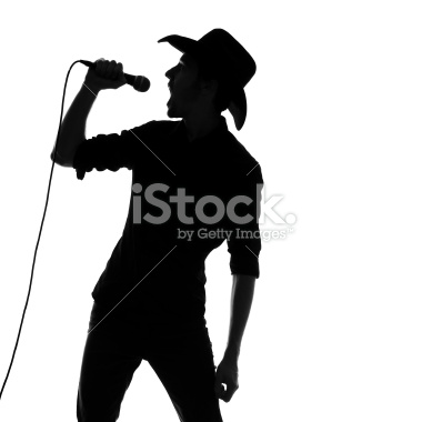 380x380 Country And Western Singer Silhouette Westerns And Silhouettes
