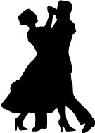 135x189 Couple Dancing Silhouette Wall Decal Cutout 26x36