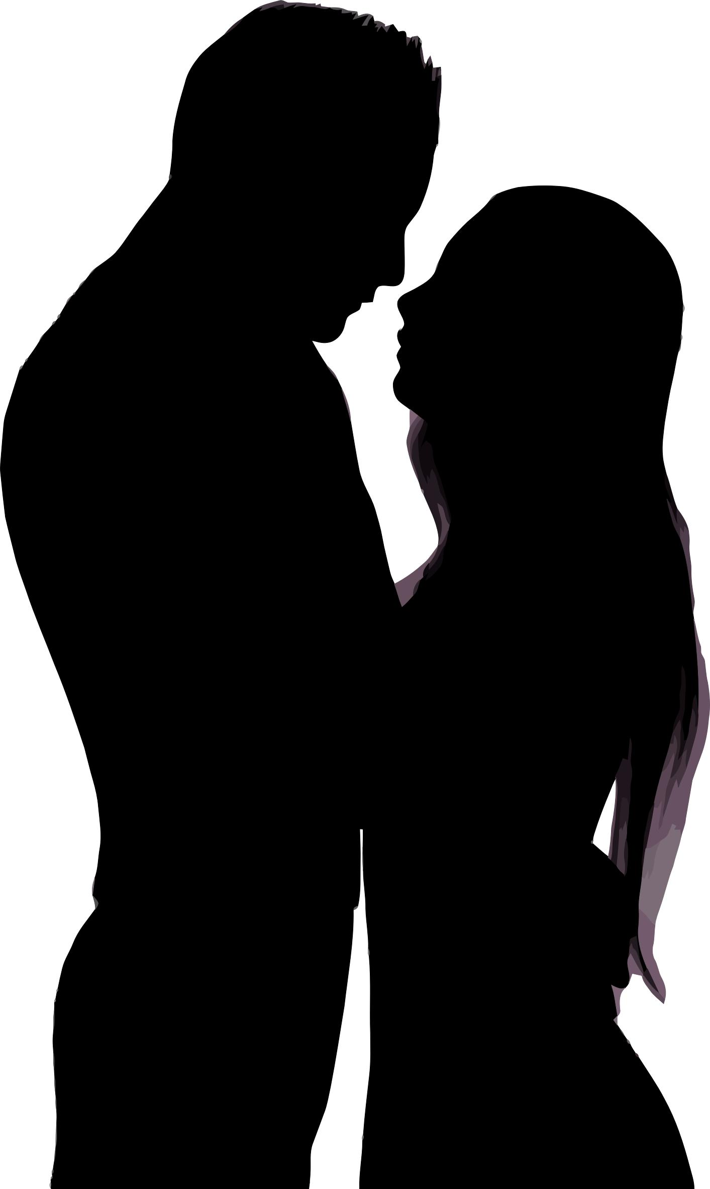 1413x2365 Embracing Couple Silhouette Icons Png
