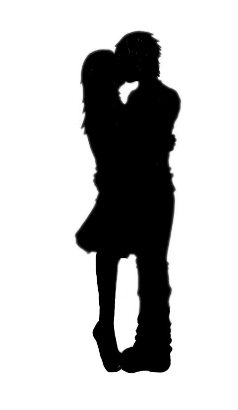 480x825 Boy And Girl Kissing Silhouette Collection