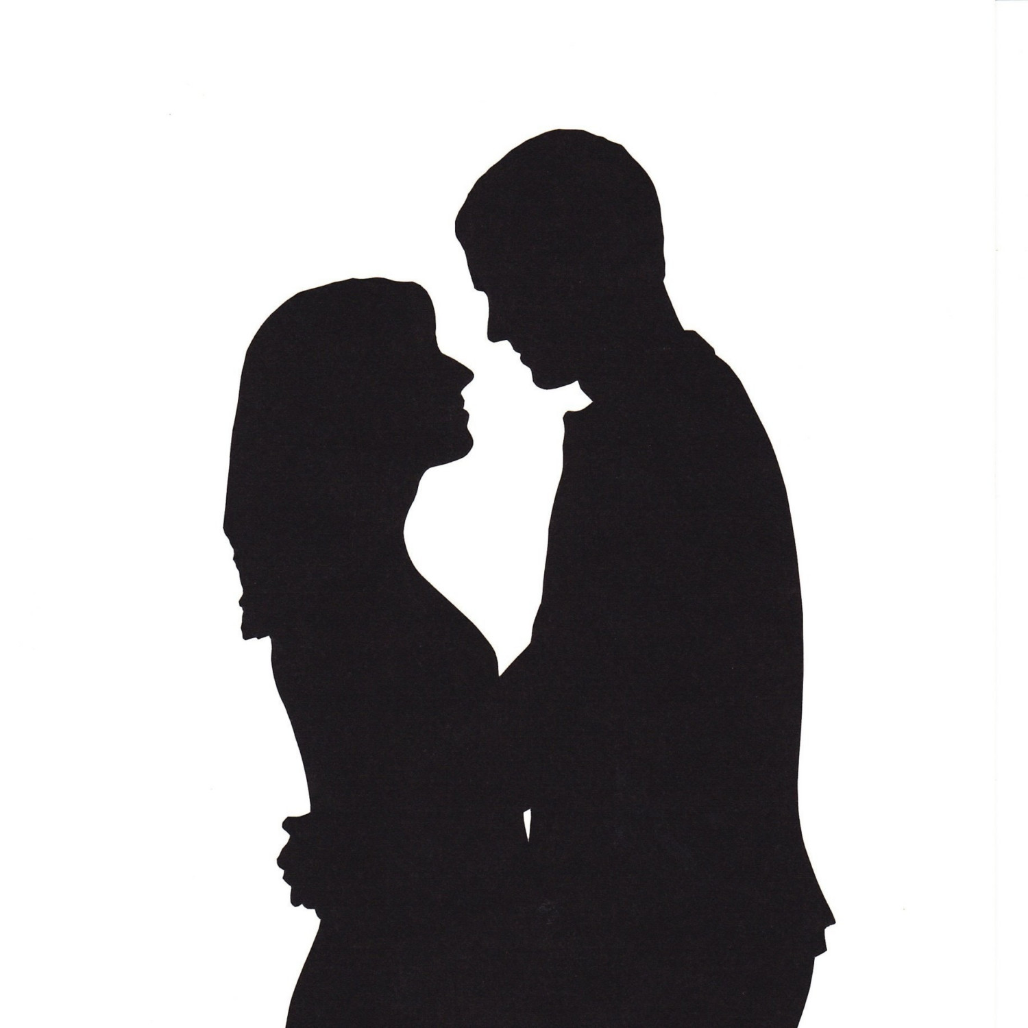 Couple Holding Hands Silhouette