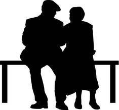 235x218 Silhouette Of A Couple Holding Hands Stock Vector
