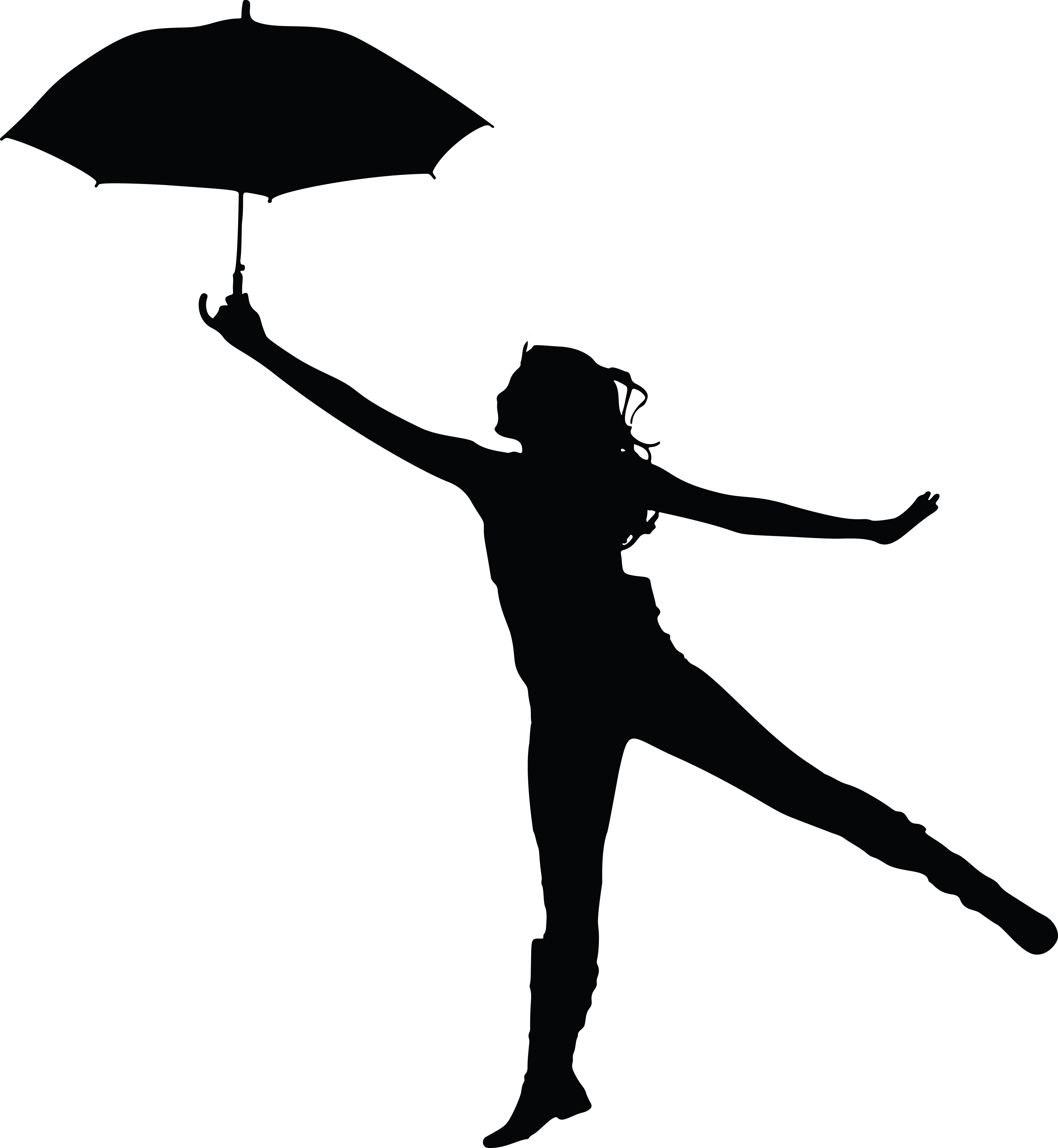4000x4342 Clipart Of A Woman Dancing With An Umbrella