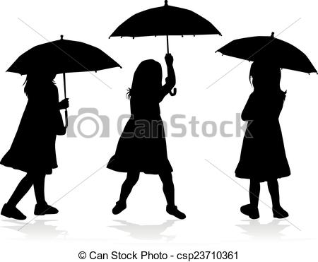 450x371 Girl With Umbrella Silhouette Clipart Vector Graphics. 298 Girl
