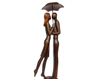340x270 Kissing In Rain Art Etsy