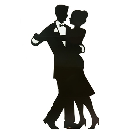 450x450 Large Dancing Couple Cut Out Silhouette