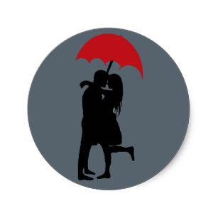 307x307 Romantic Silhouette Couple Stickers Zazzle