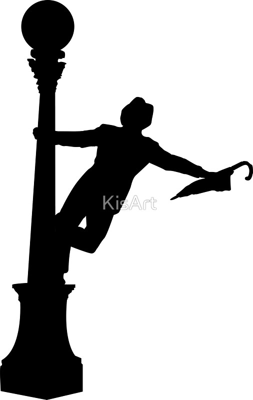 506x800 Singing In The Rain Silhouette Stickers By Kisart Redbubble
