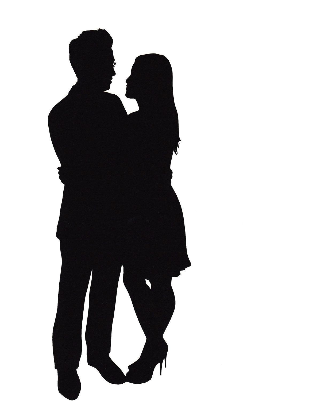 1171x1500 Couple Kissing Silhouette Clip Art